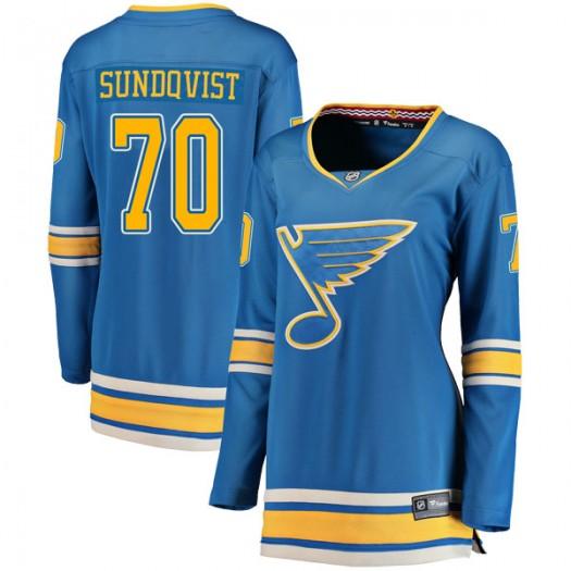 Oskar Sundqvist St. Louis Blues Women's Fanatics Branded Blue Breakaway Alternate Jersey