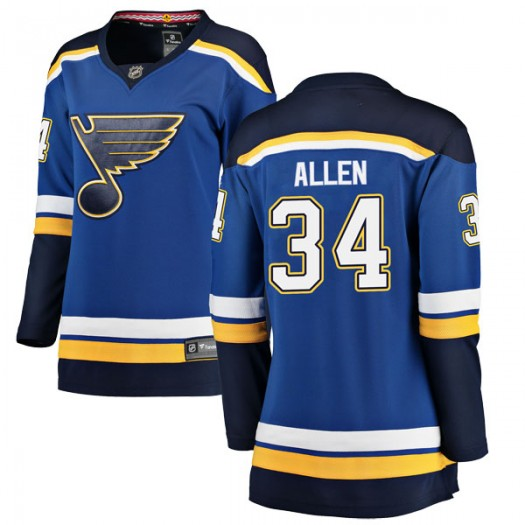 Jake Allen St. Louis Blues Women's Fanatics Branded Blue Breakaway Home Jersey