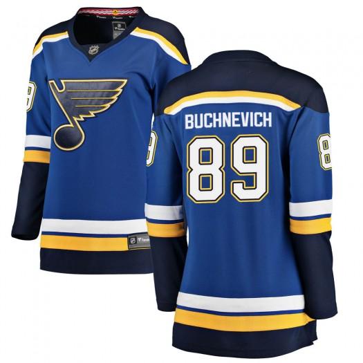 Pavel Buchnevich St. Louis Blues Women's Fanatics Branded Blue Breakaway Home Jersey