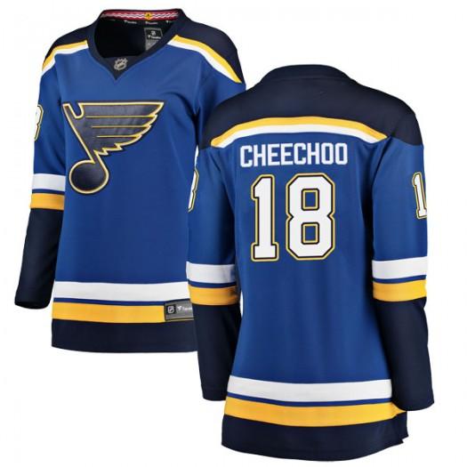 Jonathan Cheechoo St. Louis Blues Women's Fanatics Branded Blue Breakaway Home Jersey