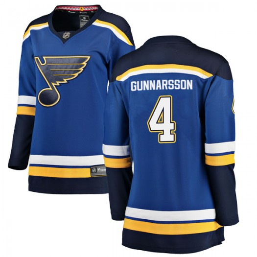 Carl Gunnarsson St. Louis Blues Women's Fanatics Branded Blue Breakaway Home Jersey