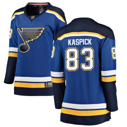 Tanner Kaspick St. Louis Blues Women's Fanatics Branded Blue Breakaway Home Jersey