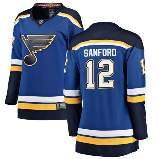 Zach Sanford St. Louis Blues Women's Fanatics Branded Blue Breakaway Home Jersey