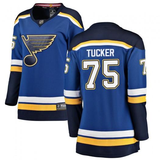 Tyler Tucker St. Louis Blues Women's Fanatics Branded Blue Breakaway Home Jersey