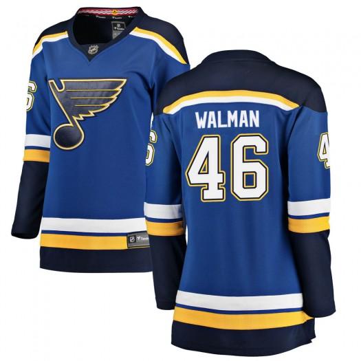 Jake Walman St. Louis Blues Women's Fanatics Branded Blue ized Breakaway Home Jersey