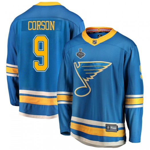 Shayne Corson St. Louis Blues Men's Fanatics Branded Blue Breakaway Alternate 2019 Stanley Cup Final Bound Jersey