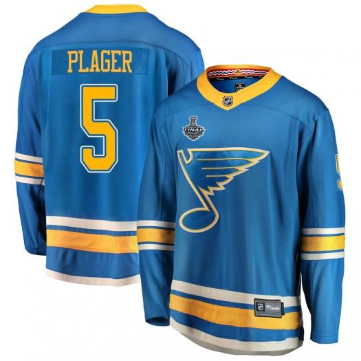 Bob Plager St. Louis Blues Men's Fanatics Branded Blue Breakaway Alternate 2019 Stanley Cup Final Bound Jersey