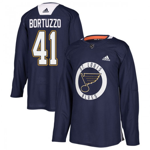Robert Bortuzzo St. Louis Blues Men's Adidas Authentic Blue Practice Jersey