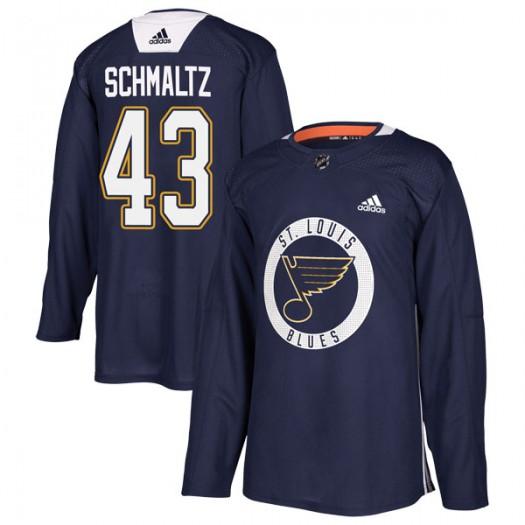 Jordan Schmaltz St. Louis Blues Men's Adidas Authentic Blue Practice Jersey