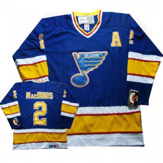 Al MacInnis St. Louis Blues Men's CCM Authentic Blue Al Macinnis Throwback Jersey