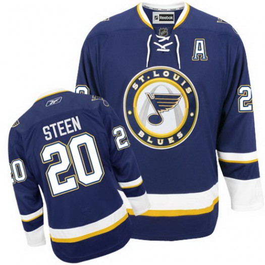 Alexander Steen St. Louis Blues Men's Reebok Authentic Navy Blue Third Jersey