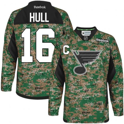 Brett Hull St. Louis Blues Men's Reebok Authentic Camo Veterans Day Practice Jersey