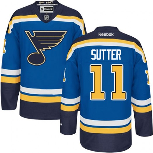 Brian Sutter St. Louis Blues Men's Reebok Authentic Royal Blue Home Jersey
