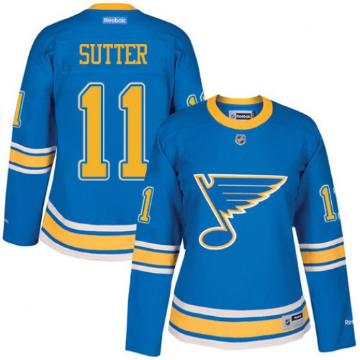 Brian Sutter St. Louis Blues Women's Reebok Premier Blue 2017 Winter Classic Jersey