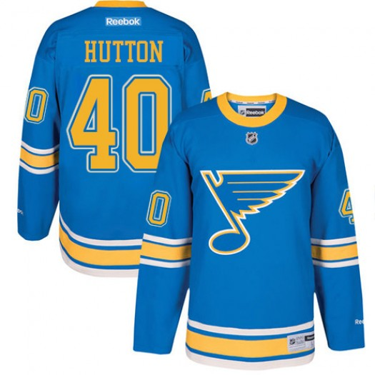 Carter Hutton St. Louis Blues Youth Reebok Authentic Blue 2017 Winter Classic Jersey