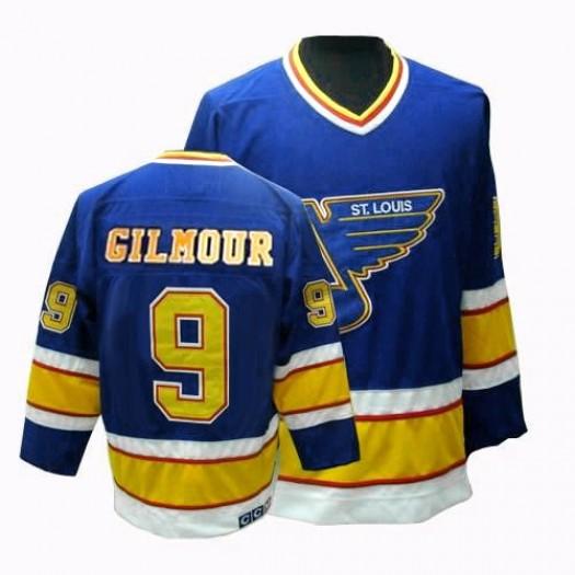 Doug Gilmour St. Louis Blues Men's CCM Premier Blue Throwback Jersey