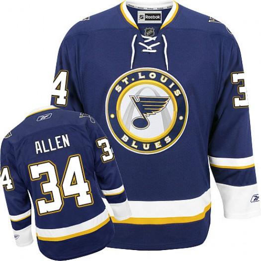 Jake Allen St. Louis Blues Men's Reebok Authentic Navy Blue Third Jersey