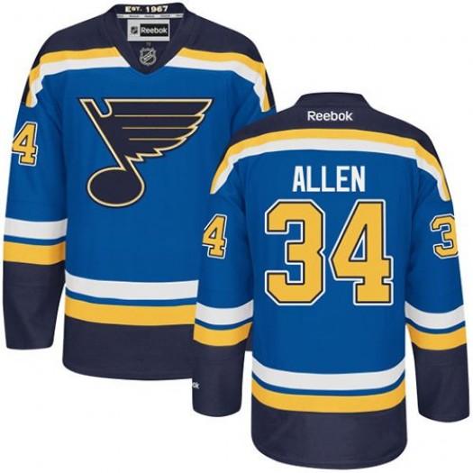 Jake Allen St. Louis Blues Men's Reebok Authentic Royal Blue Home Jersey