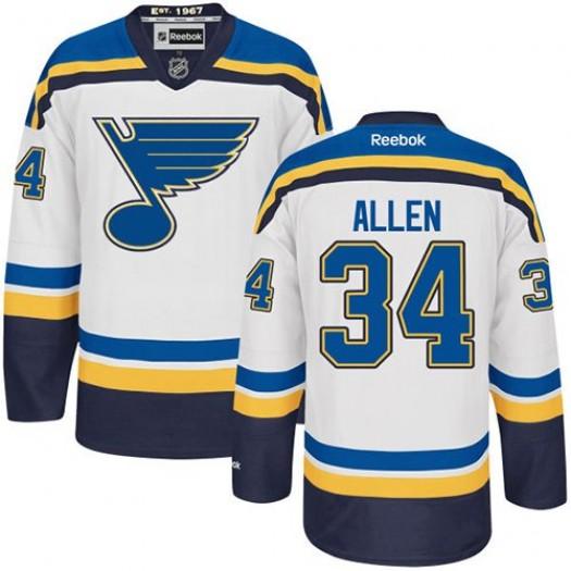 Jake Allen St. Louis Blues Men's Reebok Authentic White Away Jersey