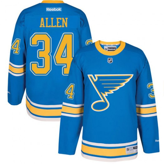 Jake Allen St. Louis Blues Youth Reebok Authentic Blue 2017 Winter Classic Jersey