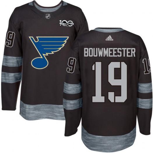 Jay Bouwmeester St. Louis Blues Men's Adidas Premier Black 1917-2017 100th Anniversary Jersey