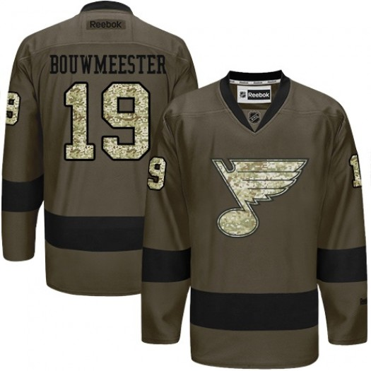 Jay Bouwmeester St. Louis Blues Men's Reebok Authentic Green Salute to Service Jersey