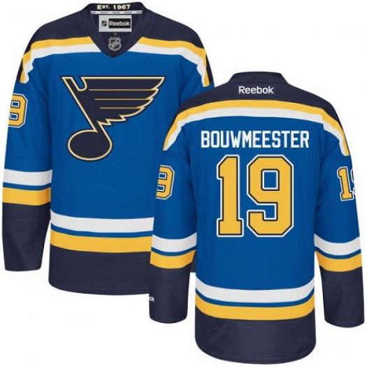 Jay Bouwmeester St. Louis Blues Men's Reebok Authentic Royal Blue Home Jersey