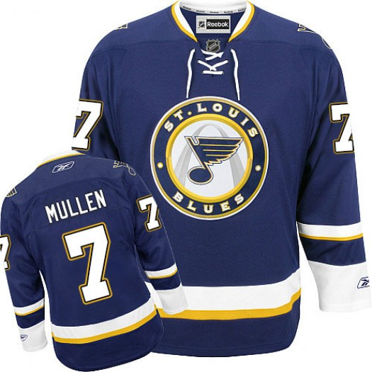 Joe Mullen St. Louis Blues Men's Reebok Authentic Navy Blue Third Jersey