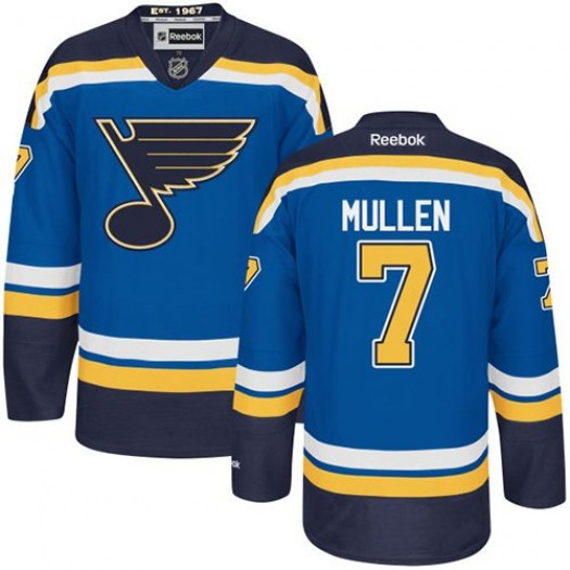 Joe Mullen St. Louis Blues Men's Reebok Authentic Royal Blue Home Jersey