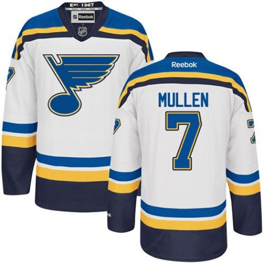 Joe Mullen St. Louis Blues Men's Reebok Authentic White Away Jersey