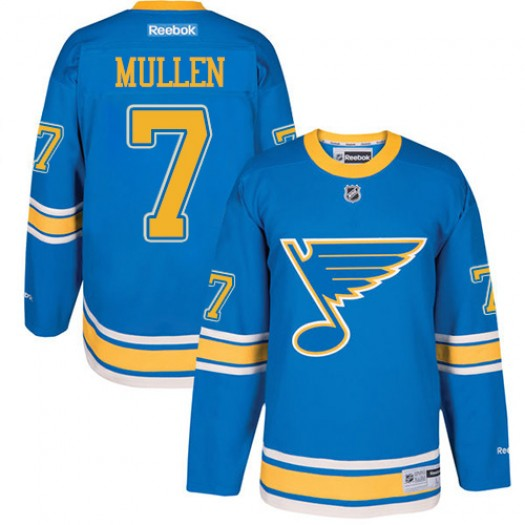 Joe Mullen St. Louis Blues Men's Reebok Premier Blue 2017 Winter Classic Jersey