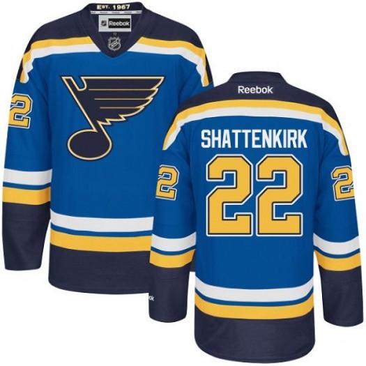 Kevin Shattenkirk St. Louis Blues Men's Reebok Authentic Royal Blue Home Jersey