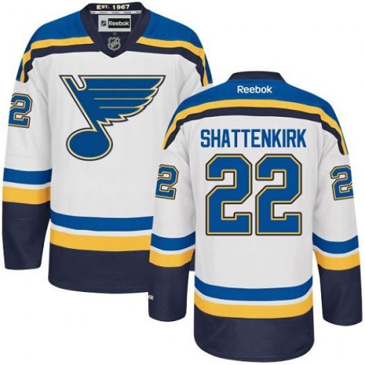Kevin Shattenkirk St. Louis Blues Men's Reebok Authentic White Away Jersey