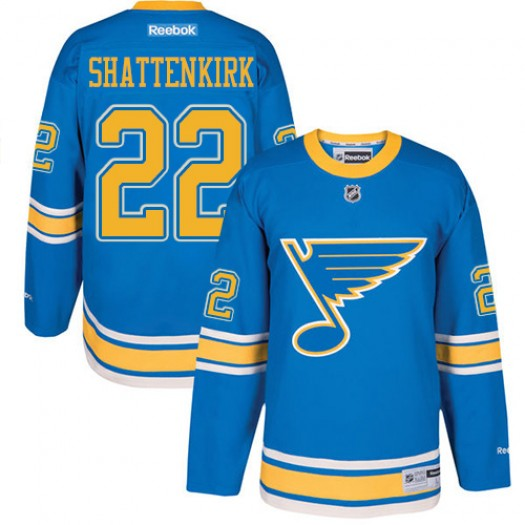 Kevin Shattenkirk St. Louis Blues Youth Reebok Authentic Blue 2017 Winter Classic Jersey