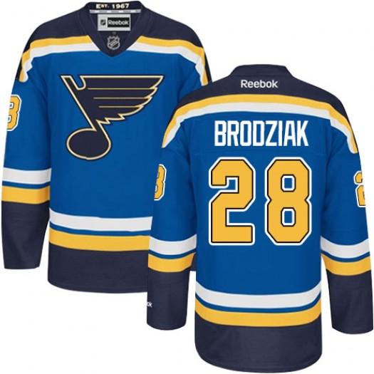 Kyle Brodziak St. Louis Blues Men's Reebok Premier Royal Blue Home Jersey