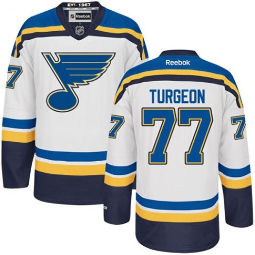 Pierre Turgeon St. Louis Blues Men's Reebok Authentic White Away Jersey