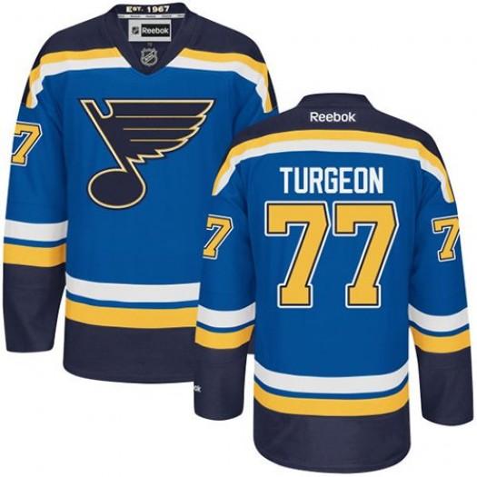Pierre Turgeon St. Louis Blues Men's Reebok Premier Royal Blue Home Jersey