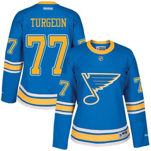 Pierre Turgeon St. Louis Blues Women's Reebok Authentic Blue 2017 Winter Classic Jersey