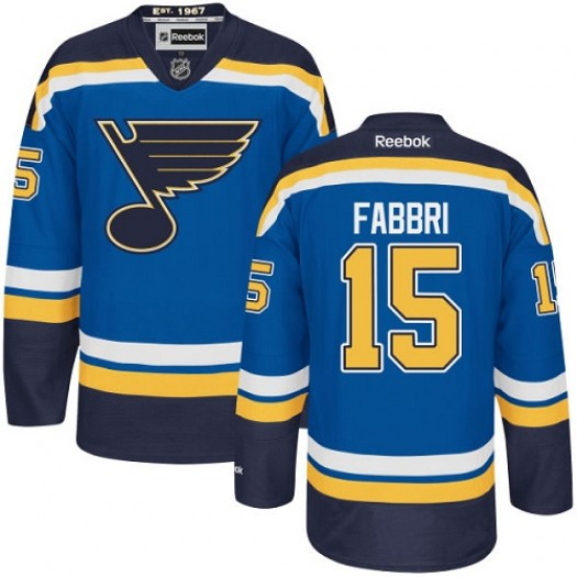 Robby Fabbri St. Louis Blues Men's Reebok Authentic Royal Blue Home Jersey