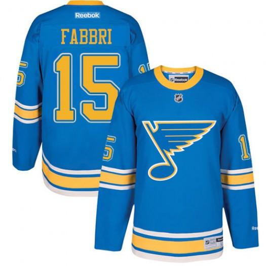 Robby Fabbri St. Louis Blues Men's Reebok Premier Blue 2017 Winter Classic Jersey