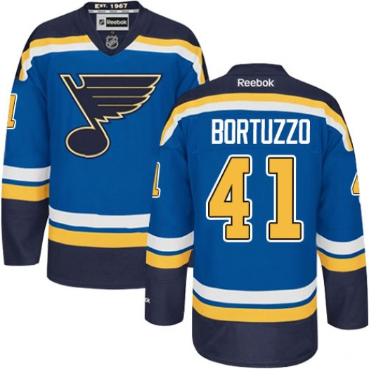 Robert Bortuzzo St. Louis Blues Men's Reebok Authentic Royal Blue Home Jersey