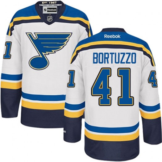 Robert Bortuzzo St. Louis Blues Men's Reebok Authentic White Away Jersey