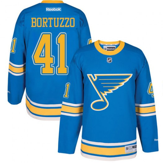 Robert Bortuzzo St. Louis Blues Men's Reebok Premier Blue 2017 Winter Classic Jersey