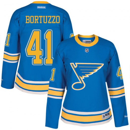 Robert Bortuzzo St. Louis Blues Women's Reebok Premier Blue 2017 Winter Classic Jersey