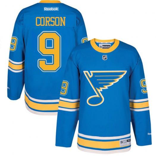 Shayne Corson St. Louis Blues Youth Reebok Premier Blue 2017 Winter Classic Jersey