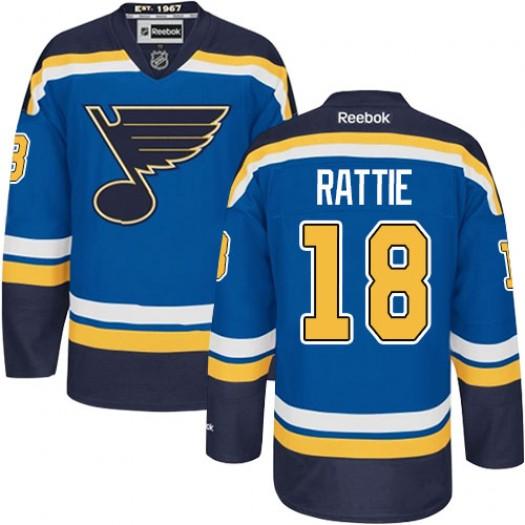 Ty Rattie St. Louis Blues Men's Reebok Authentic Royal Blue Home Jersey