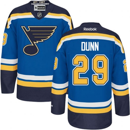 Vince Dunn St. Louis Blues Men's Reebok Authentic Royal Blue Home Jersey
