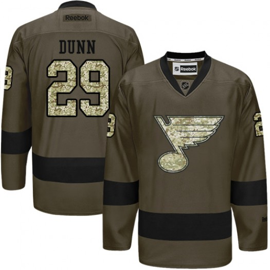 Vince Dunn St. Louis Blues Men's Reebok Premier Green Salute to Service Jersey