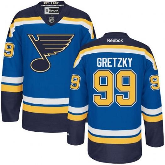 Wayne Gretzky St. Louis Blues Youth Reebok Authentic Royal Blue Home Jersey