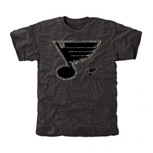 St. Louis Blues Men's Black Rink Warrior Tri-Blend T-Shirt